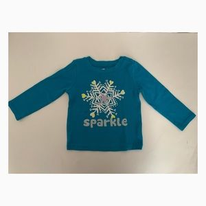 Used Children's Place Girls Long Sleeve Shirt - 2T